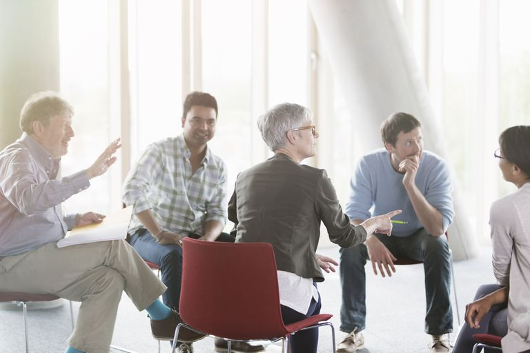 adults in focus group for market research
