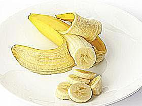 Sliced Banana on Plate