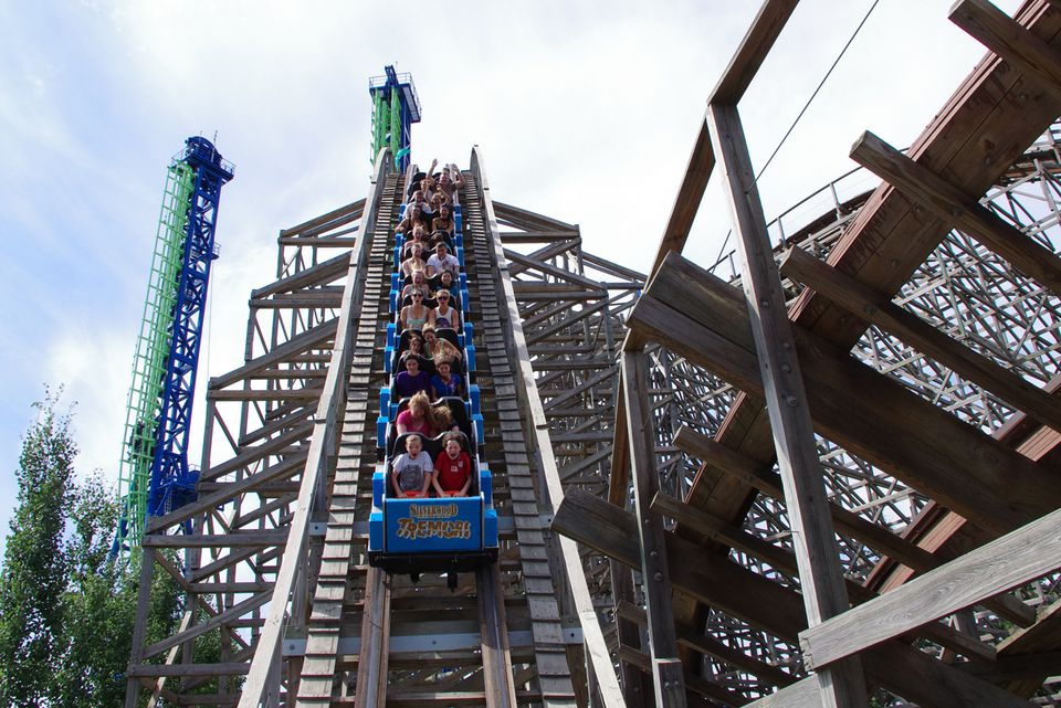Tremors roller coaster at Silverwood