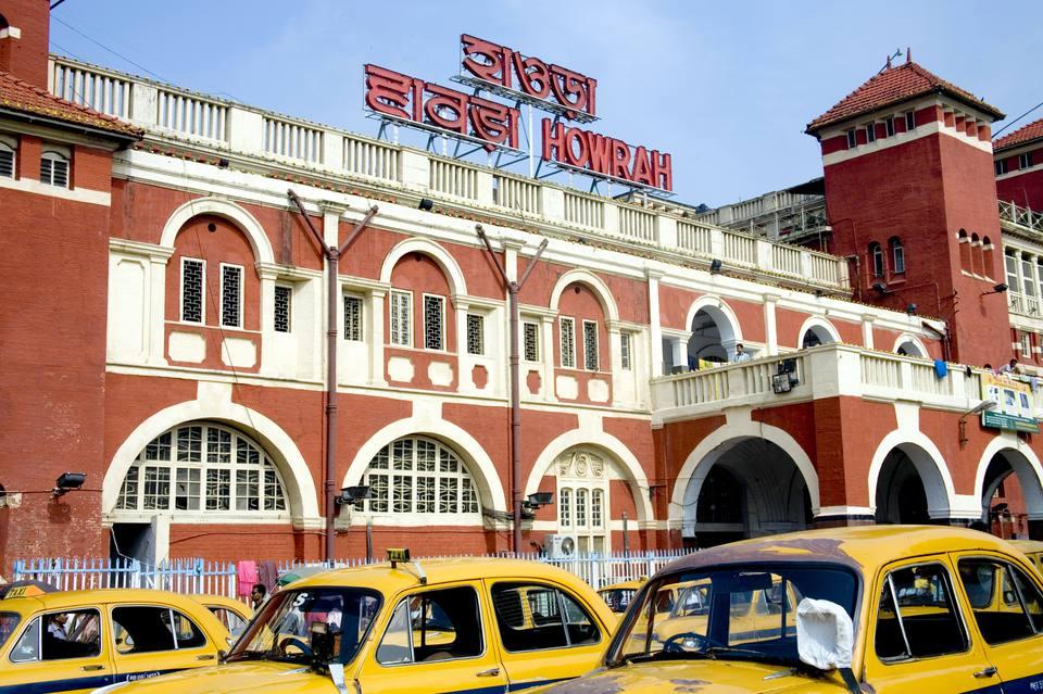 Howrah railway station in Kolkata.