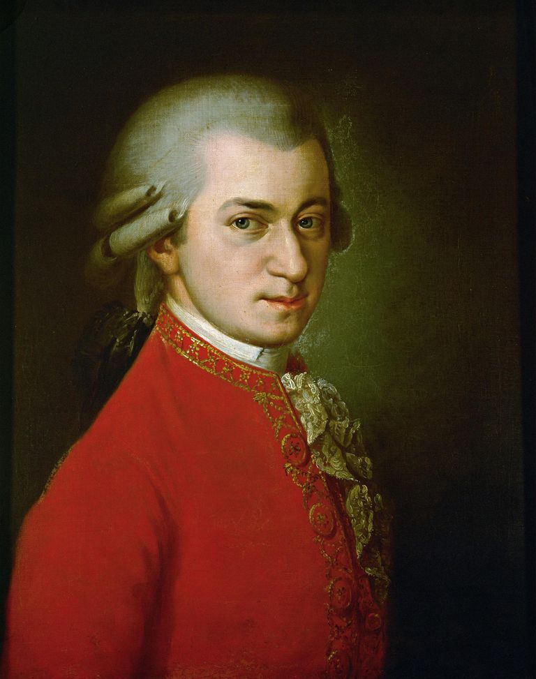 Wolfgang Amadeus Mozart. Posthumous portrait. Oil on canvas. 1819