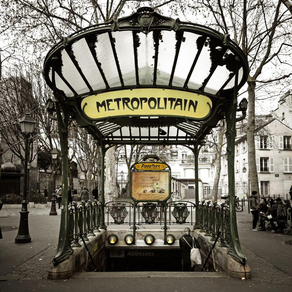 The Paris Metro provides efficient, cheap ground transportation.