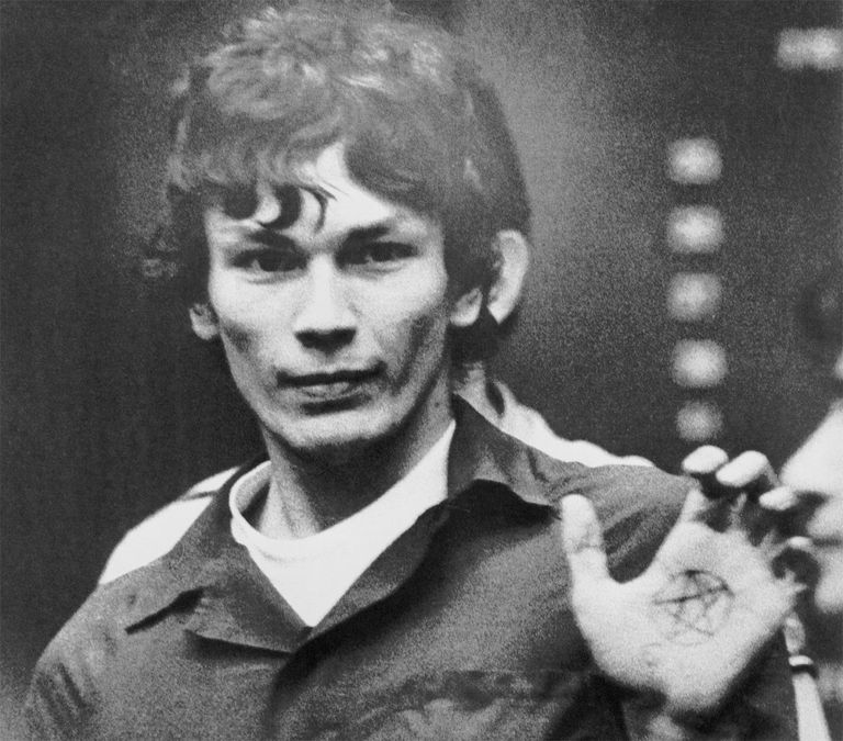 Richard Ramirez being led from courtroom.