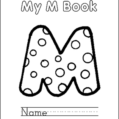 letter m coloring book free printable pages