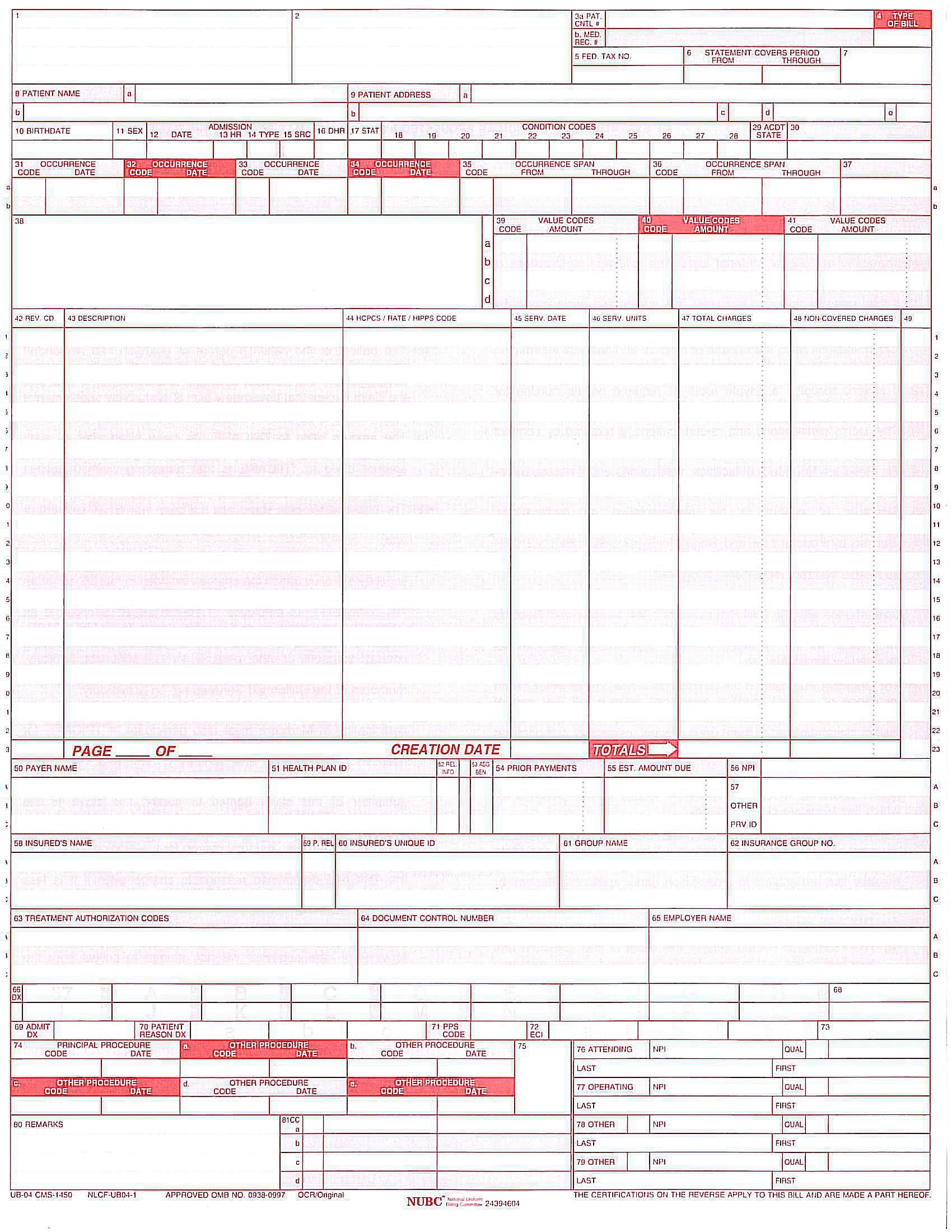 UB04-57a5d9773df78cf459cd0ef3 Medical Form Ub on eob medical form, ada medical form, hcfa medical form,