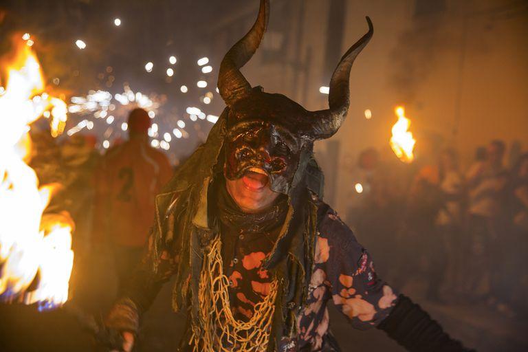 Person in a Demon Costume
