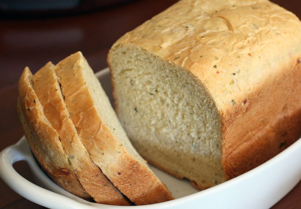 Bread Machine Herb and Parmesan Bread