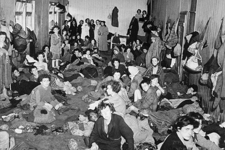 Jewish Women and Children in Belsen Concentration Camp