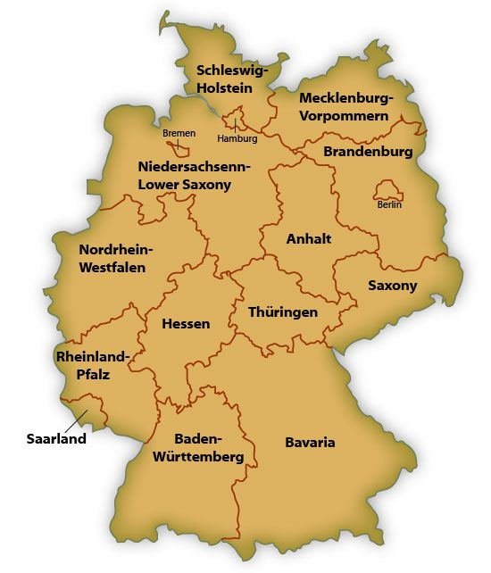 Map Of German States - Germany map bremen