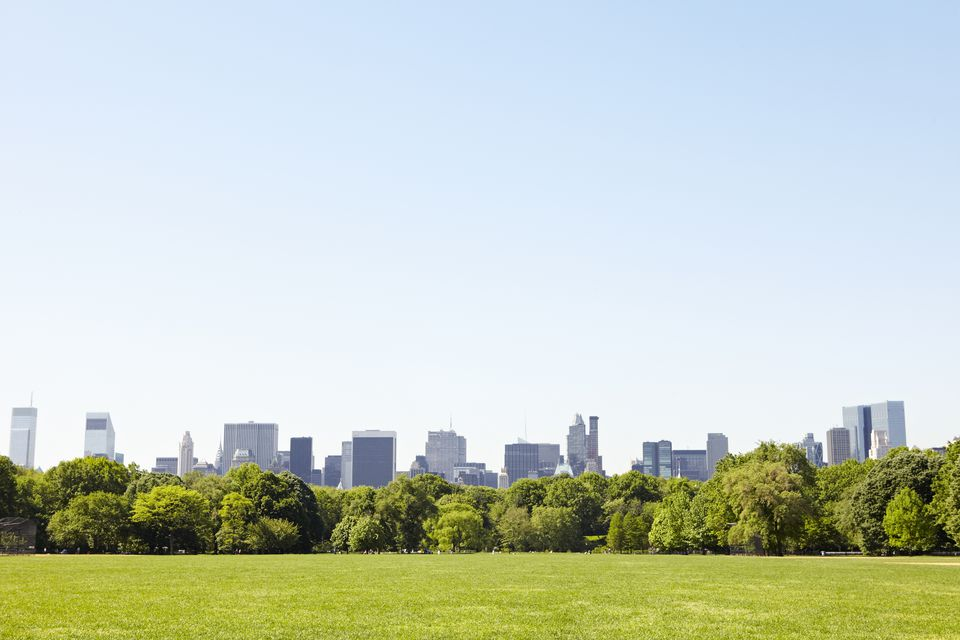 Central Park with Manhattan skyline, New York City, USA