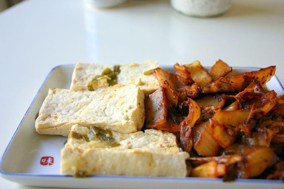 Sauteed Kimchi and Tofu