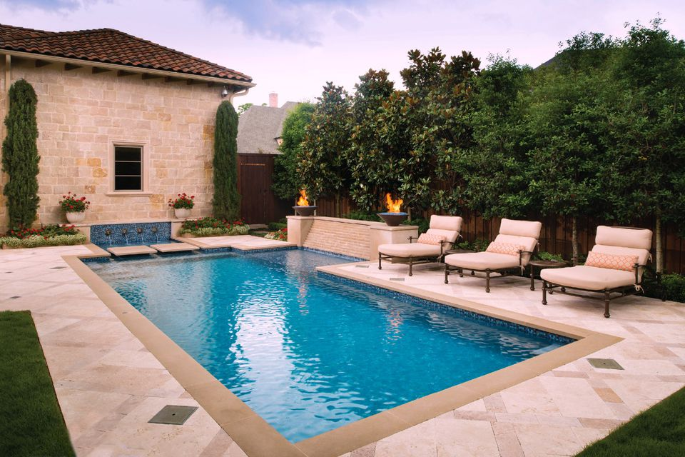 Rectangular Pool Designs and Shapes on Rectangle Patio Ideas id=84207