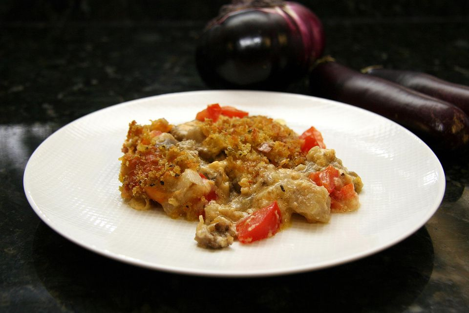 Eggplant Bake with Bread Crumb Topping