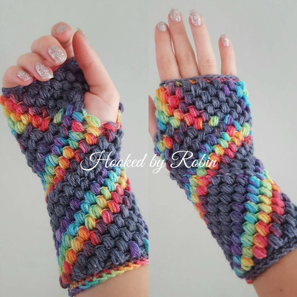 10 free crochet fingerless gloves patterns puff stitch fingerless gloves free crochet pattern bankloansurffo Choice Image