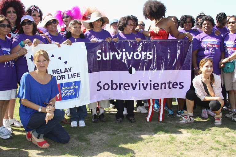 Actresses Nancy Lee Grahn and Lisa LoCicero attend the Relay For Life Hollywood