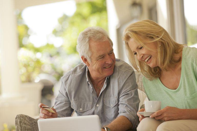 A couple happily enjoying retirement