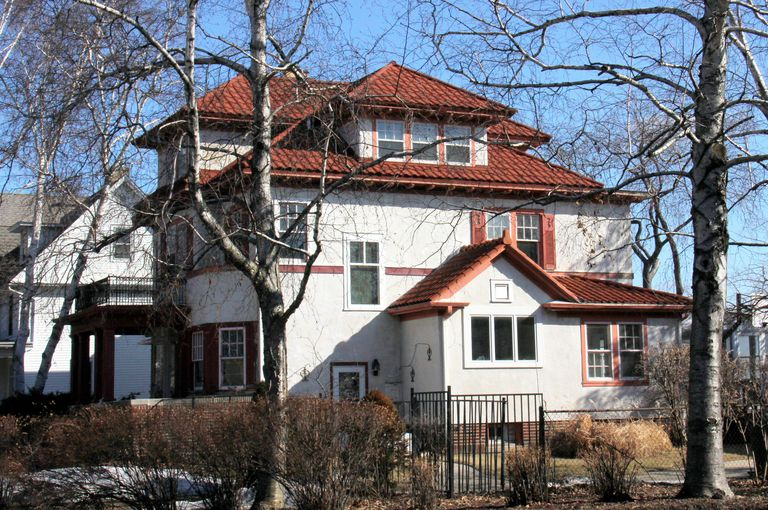 Red Tile Roof and Light-Colored Stucco