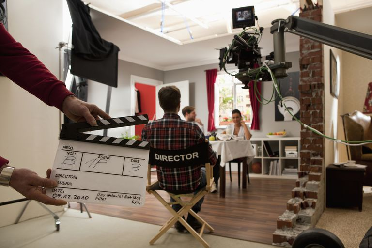 on the set of a film