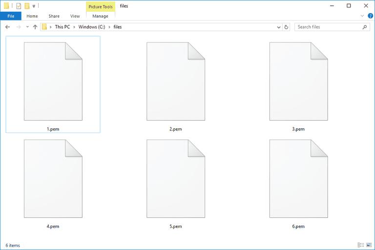 PEM Files