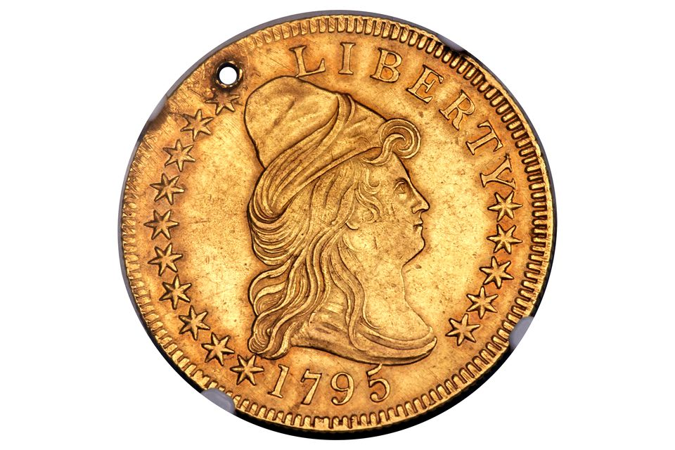 1795 Ten Dollar Gold Eagle with a Hole
