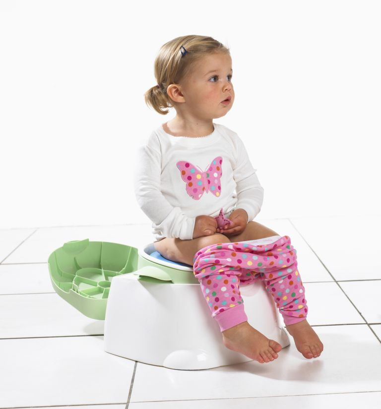 Toddler girl on potty