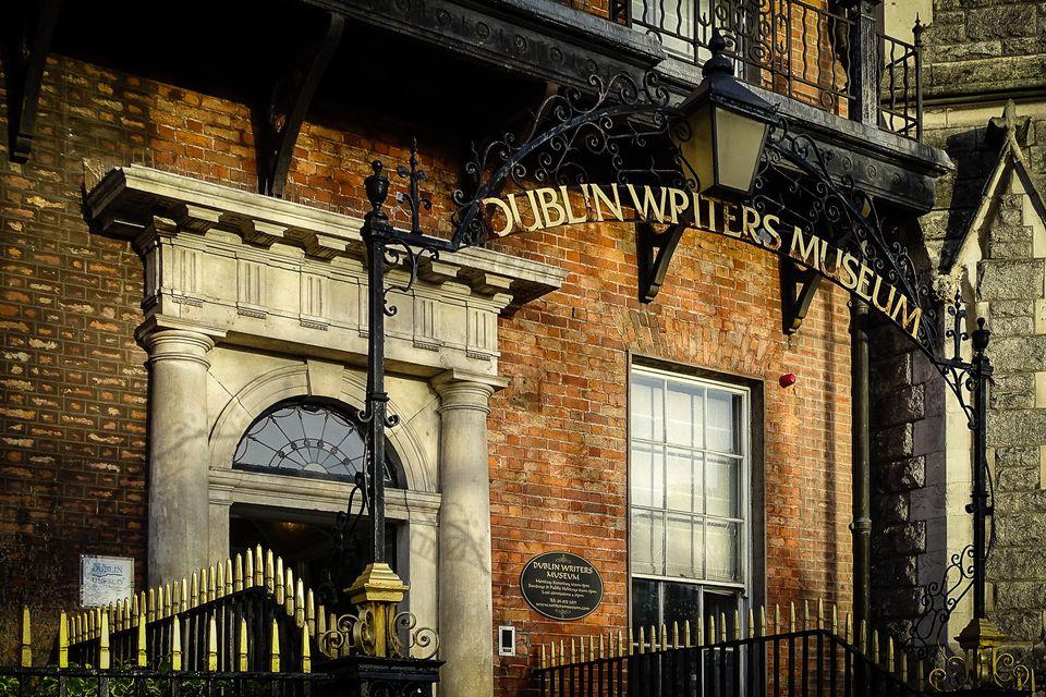 The Dublin Writers Museum basking in morning sunshine