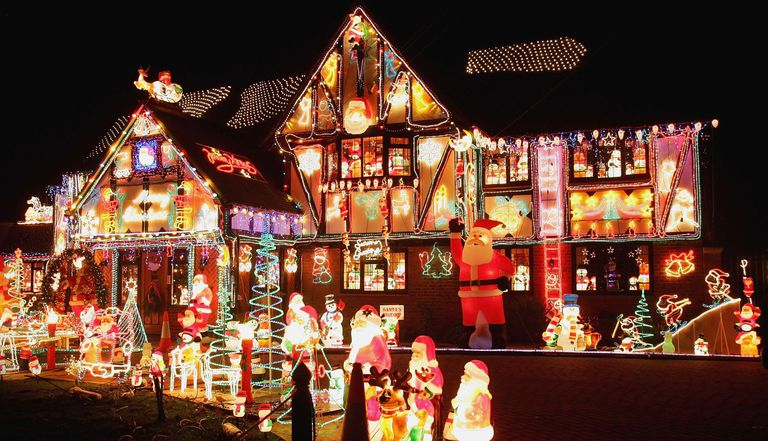 Figure 1-1: A picture of a house with lights everywhere.