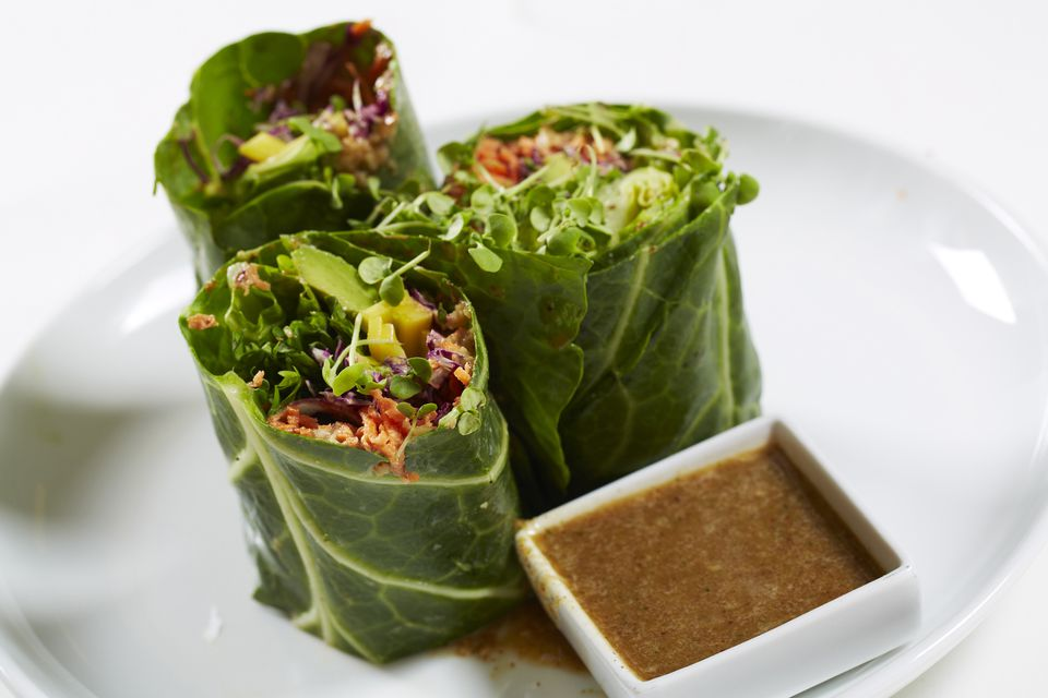 Raw vegan lettuce wraps