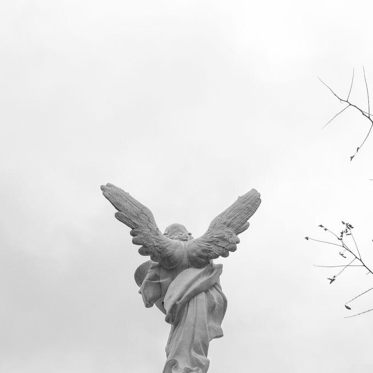 Angel sculpture in Gurzuf, Ukraine