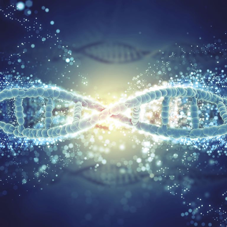 DNA strain illustrating where an EGFR gene mutation may occur