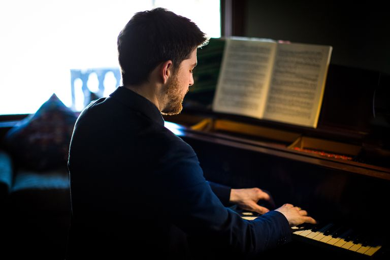 Portrait Of Man Playing Piano