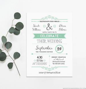 529 free wedding invitation templates you can customize free wedding invitation templates from mountain modern life stopboris Images