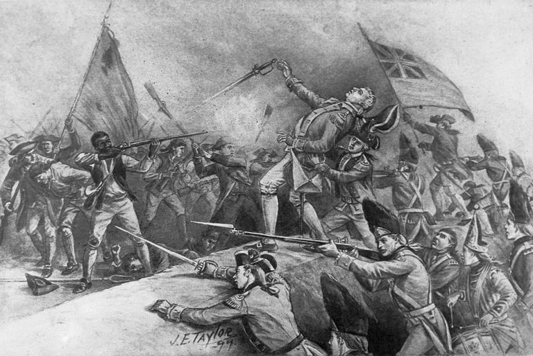 Peter Salem Shooting Major Pitcairn at Bunker Hill by J.E. Taylor
