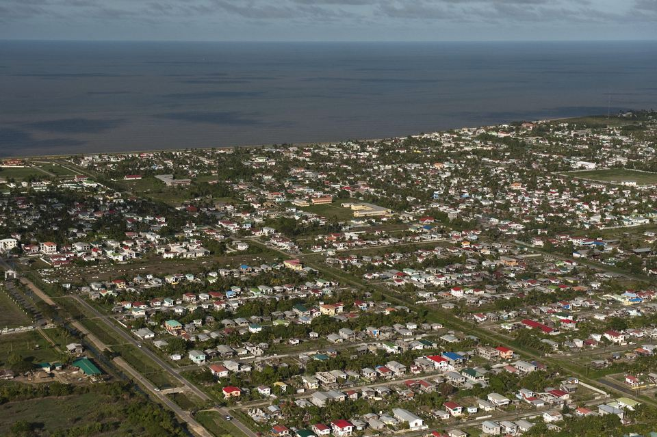 Aerial view of cityscape / Georgetown, Guyana