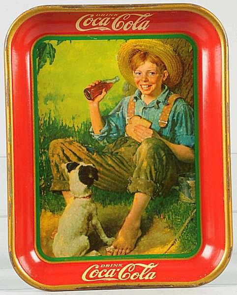 Coca-Cola Serving Tray with Artwork by Norman Rockwell