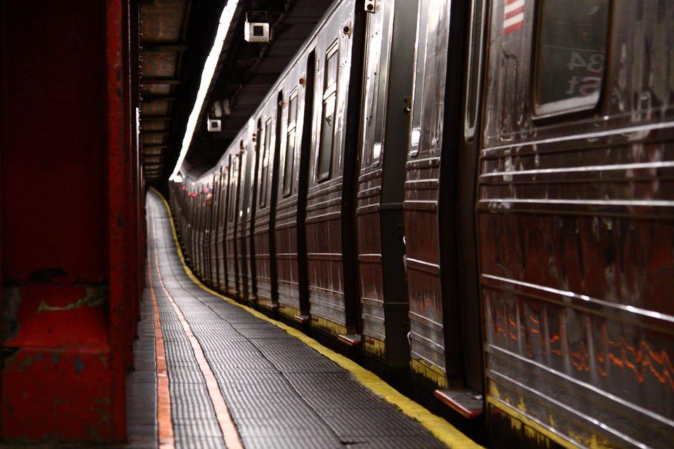 A New York City subway car.
