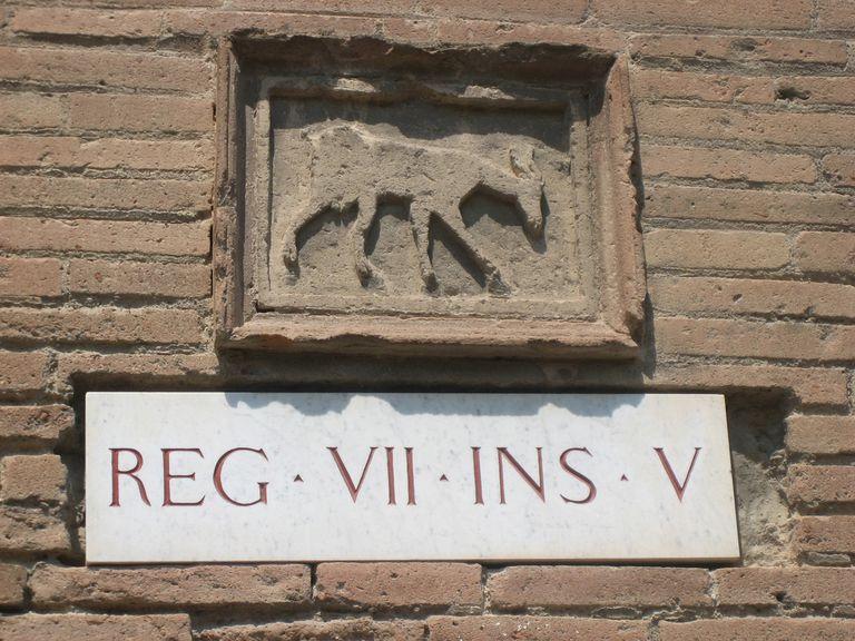 Pompeii Street Sign
