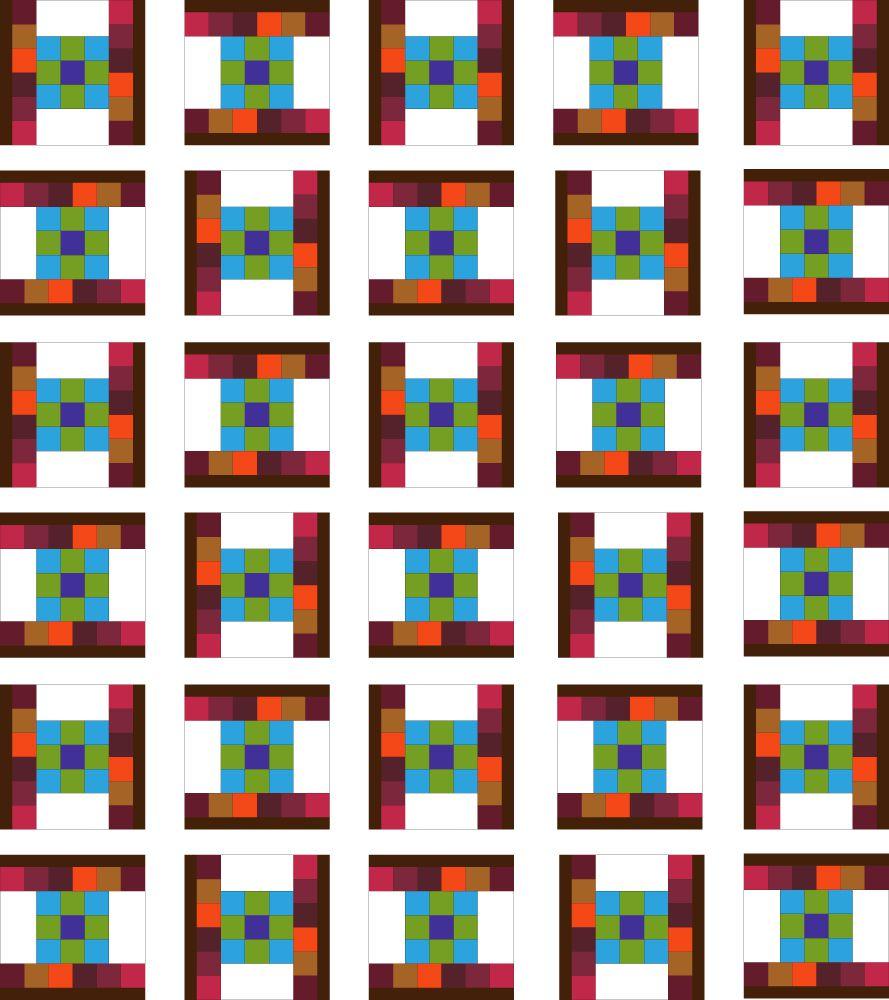 Dancing Nine Patch Quilt Layout