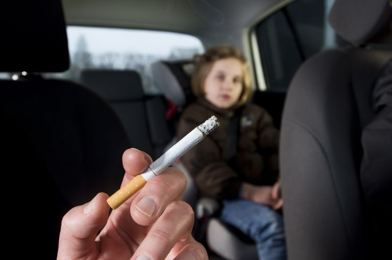 Young Children Suffering The Effects of In Car Passive Smoking