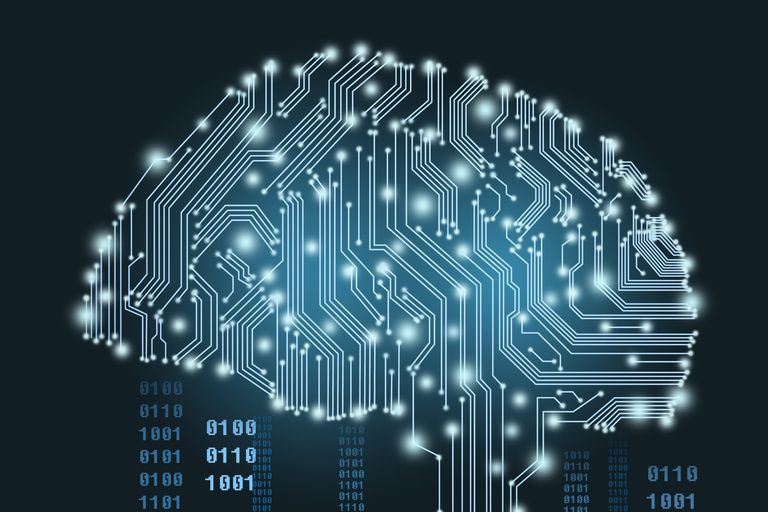 Computer circuits in shape of a human brain