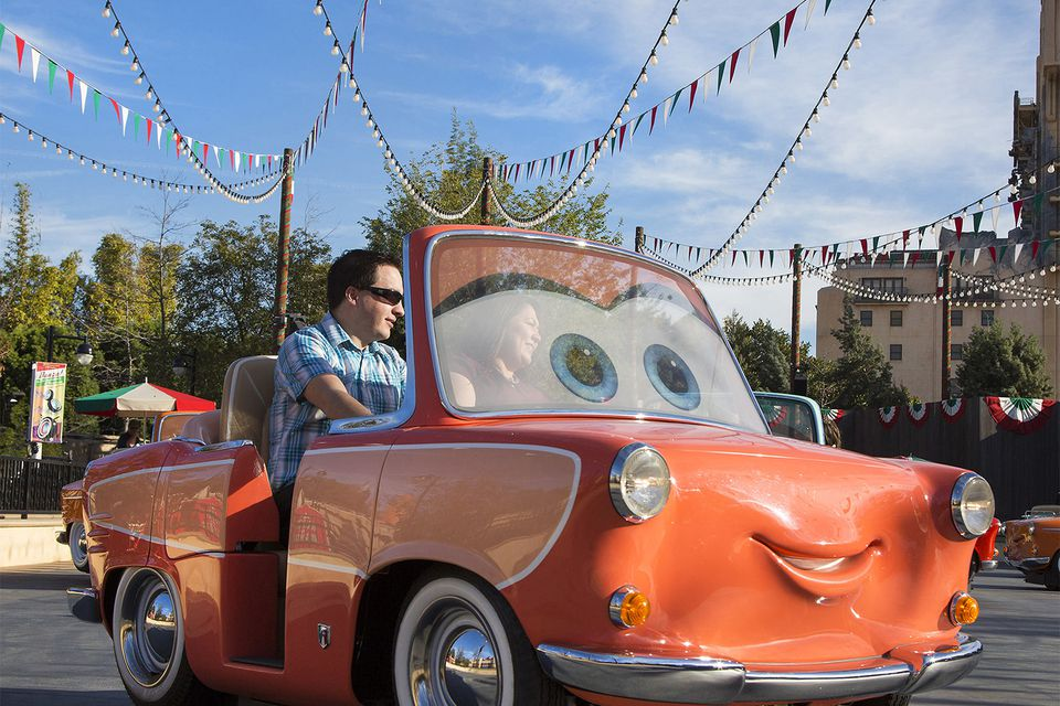 Ride Vehicle for Luigi's Rockin' Roadsters at Disney California Adventure