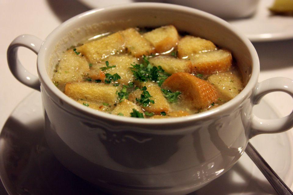 Czech Garlic Soup