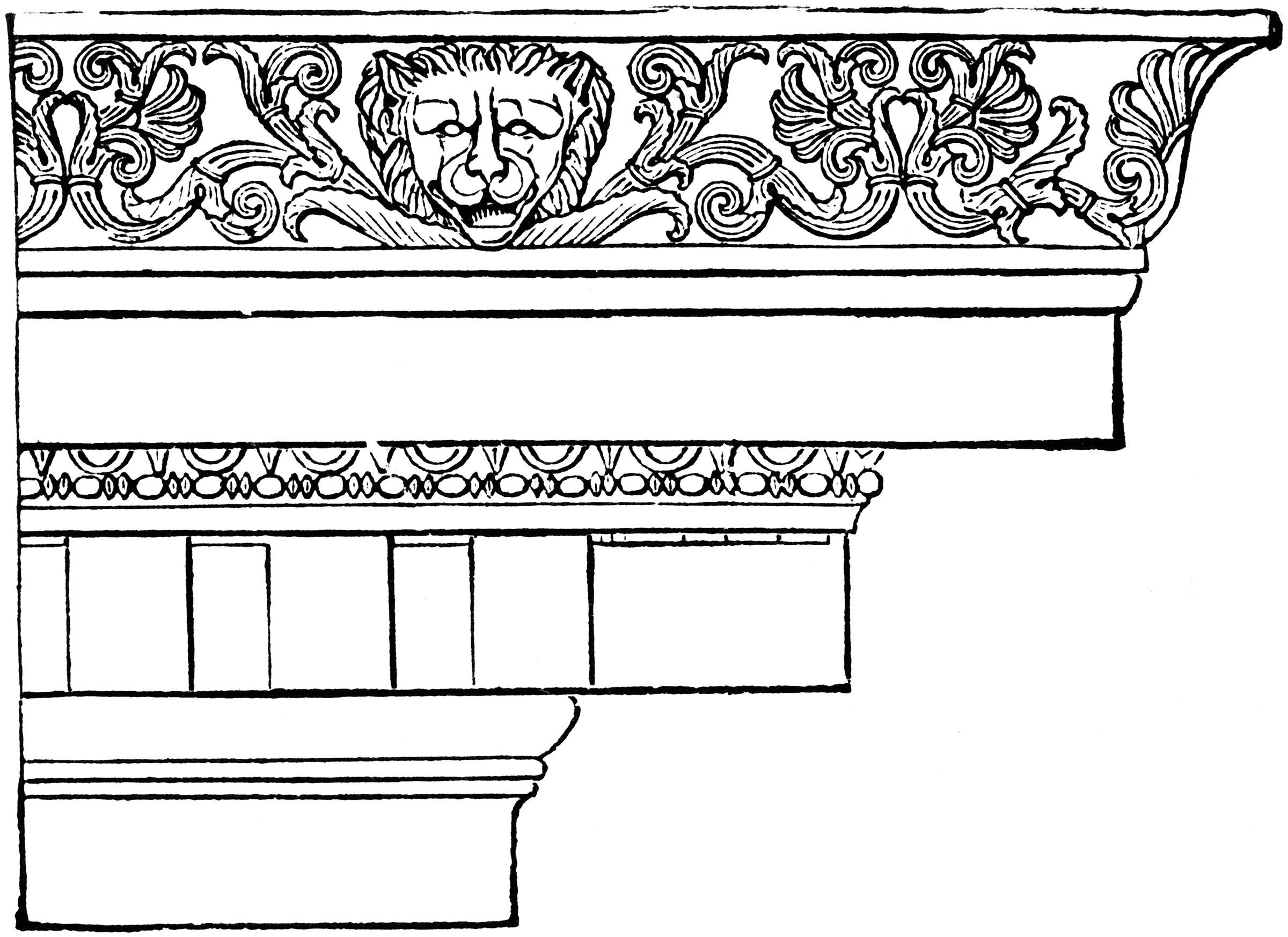 In Ancient Classical Architecture As Well Its Derivative Revivals Architectural Details May