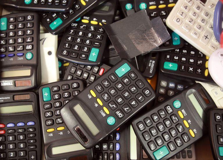 A box of calculators