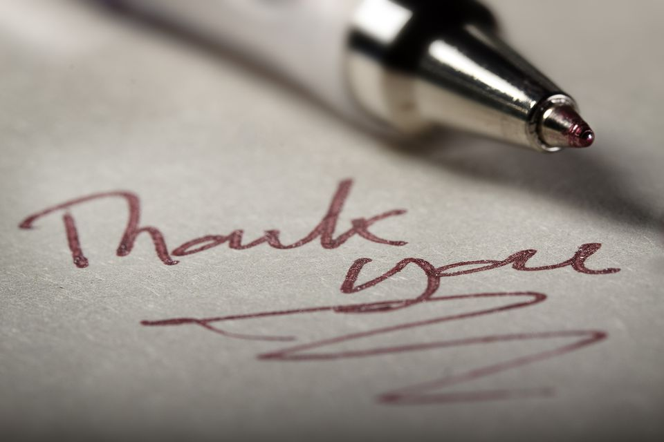 Thank you, red letter day, note with pen