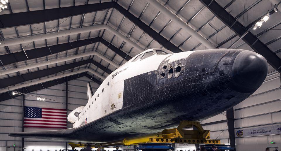 NASA retired space shuttle Endeavour, inside the California Science Center in Los Angeles, Californi