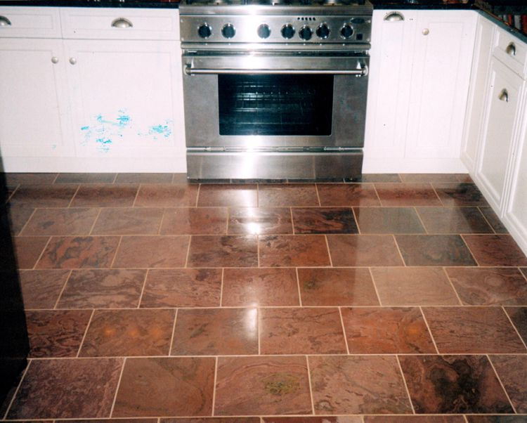 natural clefted stone kitchen flooring - Stone Flooring For Kitchen