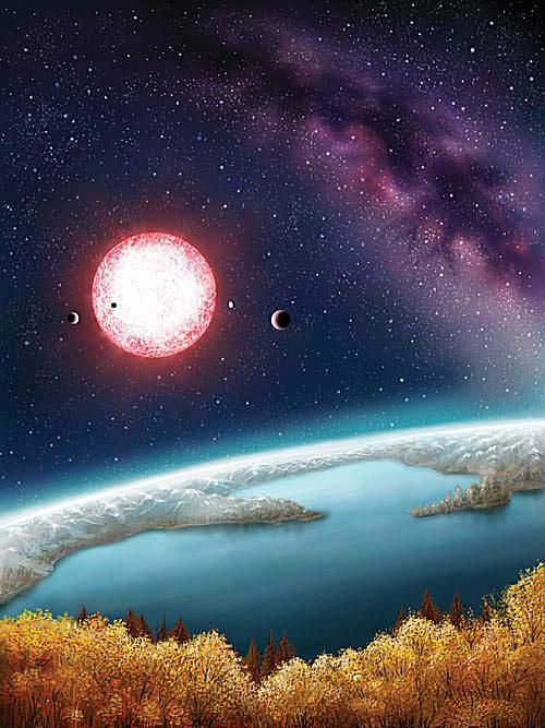 View from a water world