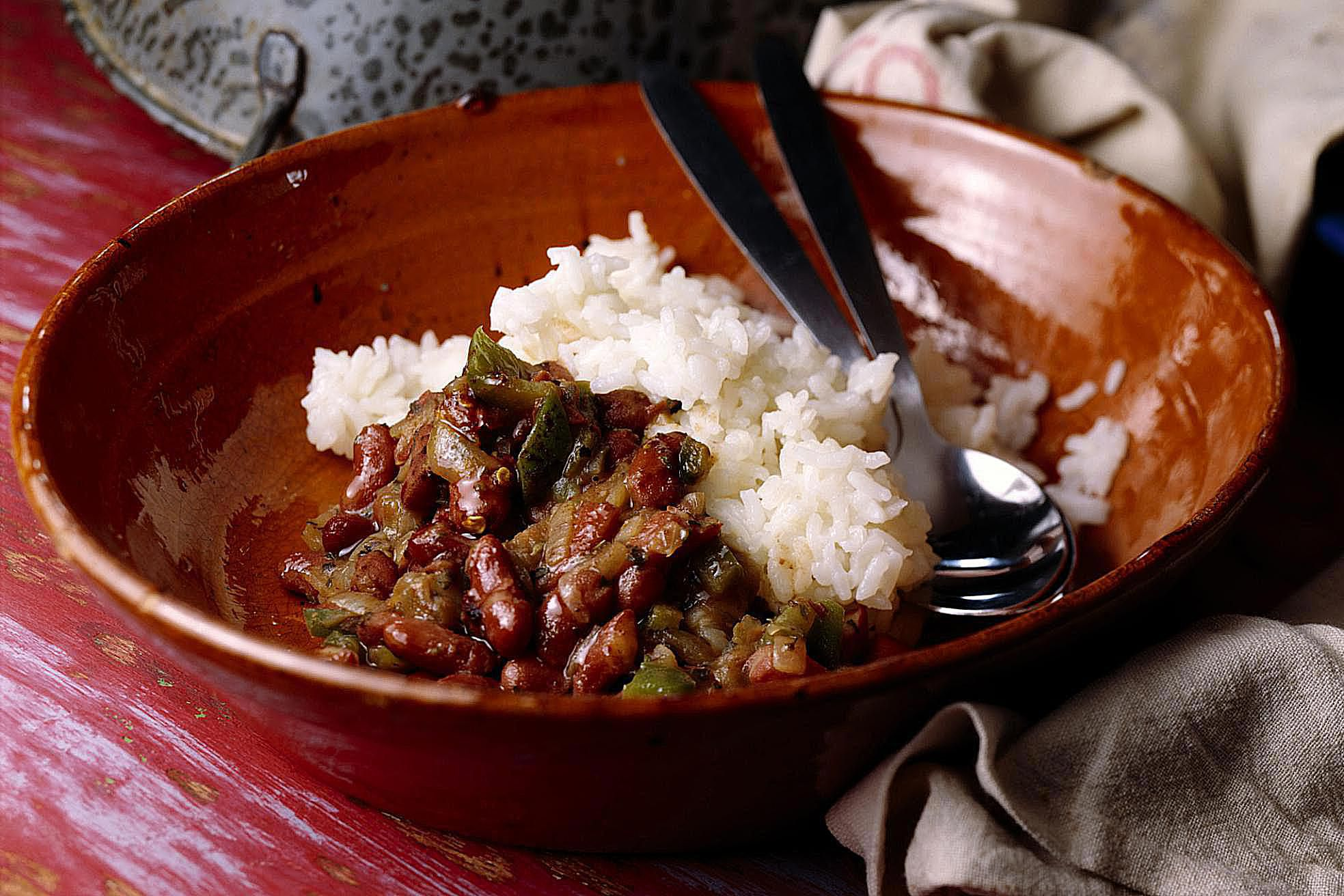 slow cooker cajun red beans and rice recipe. Black Bedroom Furniture Sets. Home Design Ideas
