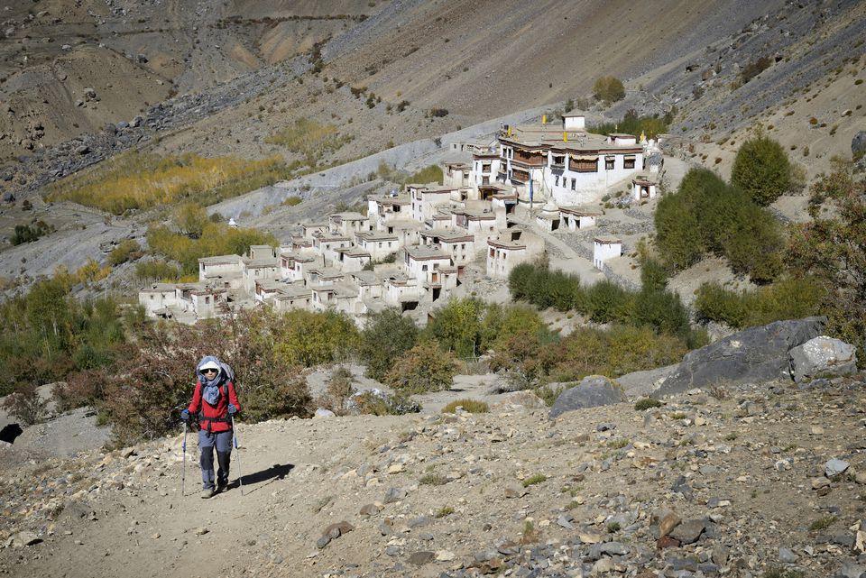 Trekking in Ladakh.